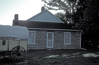 St. Mary's Mission (Kansas) - The Pottawatomie Indian Pay Station (1855)