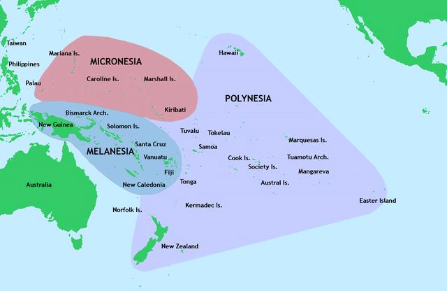 3 kelompok kepulauan utama di Pasifik