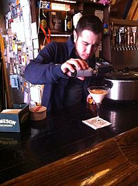 Pacific Standard owner preparing Santorum cocktail drink 06.JPG