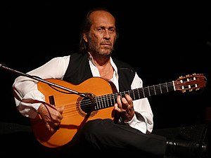 Flamenco guitar - Flamenco guitarist Paco de Lucía