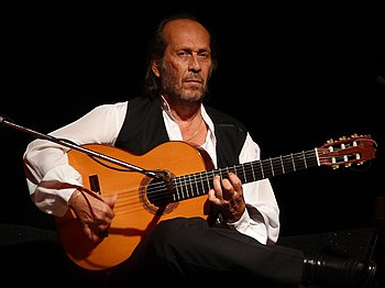 English: Paco de Lucía at the PLAI Festival in...