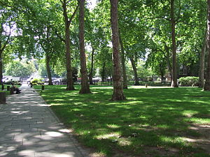 Paddington Green, London - Paddington Green conservation area, showing view to Westway