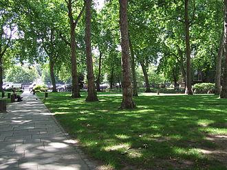 Paddington Green, London - Paddington Green conservation area, showing view to Westway