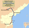 Padmavati Express (Tirupathi - Secunderabad) Route map.png