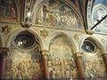 Padova, basilica del santo, crocefissione di altichiero e lunetta.JPG