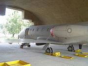 Pakistan Air Force No 24 Blinders Squadron Falcon DA-20 left rear1.jpg