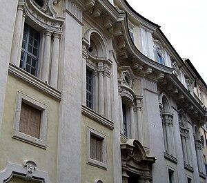 Palazzo di Propaganda Fide - The facade made by Borromini