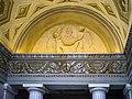 Palazzo Tosio interno due angeli in rilievo in lunetta Brescia.jpg