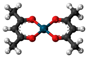 Palladium(II) acetylacetonate - Image: Palladium(II) acetylacetonate 3D ball