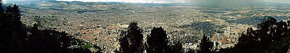 Panoramic view of Bogotá