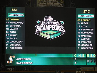 Estadio de Béisbol Francisco I. Madero - New scoreboard, 28 March 2011