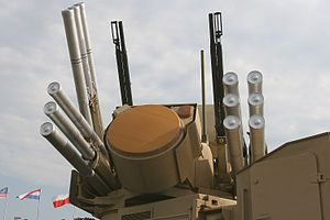 English: Pantsir-S1 Weapon System. In the Cent...
