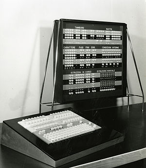Olivetti Elea - Elea 9001 console. Photo by Paolo Monti, 1968