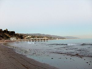 English: Paradise cove pier in Malibu, CA Espa...