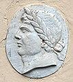 Parco di pratolino, fagianeria e limonaia, 14 rilievo con busto di imperatore.jpg