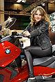 Paris - Salon de la moto 2011 - BMW - C 650 GT et hôtesse - 002.jpg
