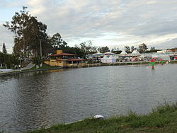 Multisport Park of Pond (Parque Poliesportivo da Lagoa) in June festivities.