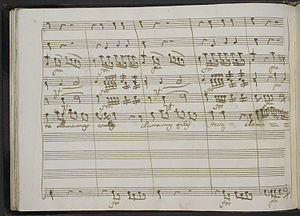 Pasquale Anfossi - A folio from Salve regina by Anfossi, written in his own hand.