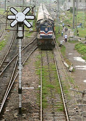 Muzaffarpur - Passenger train at Muzaffarpur Junction. (From Motihari)