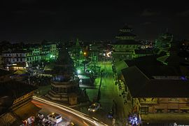 Patan Durbar Square at night-IMG 4138.jpg