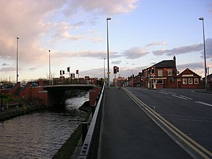 A57 road - Patricroft Bridge over the Bridgewater Canal