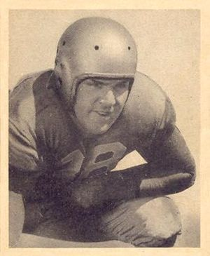 Paul Briggs (American football) - Briggs on a 1948 Bowman football card