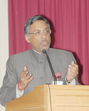 Pavan Varma - Varma speaking at a book launch in Nehru Centre, London, in 2005, when he was its director