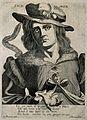 Pedanios Dioscorides. Line engraving by Remondini. Wellcome V0001598.jpg