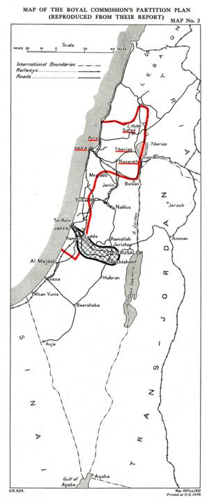 Woodhead Commission - Image: Peel Map