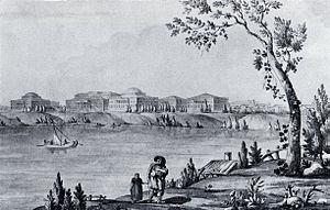 Pella Palace - A veduta from ca. 1796