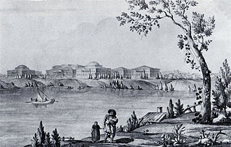 Greek Plan - The colossal Pella Palace on the bank of the Neva River was named after the birthplace of Alexander the Great