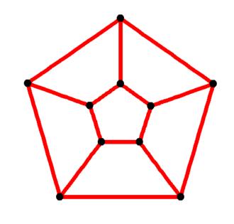 Prism (geometry) - Image: Pentagonal prismatic graph