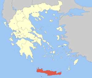 Locator Map of Crete Periphery, Greece
