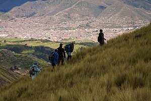 Cachimayo District - Cusco as seen from the Cachimayo District north of the town (near Chaypa and the mountain Sirk'a)