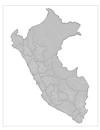 Provinces of Peru - Map of the Peruvian provinces