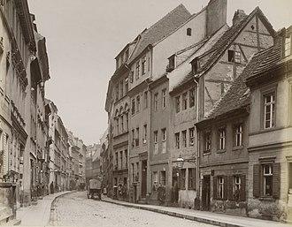 Fischerinsel - Image: Petristraße, Berlin 1880