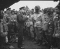 Photograph of General Dwight D. Eisenhower Meeting the Troops Prior to the Normandy Invasion - NARA - 778813.tif