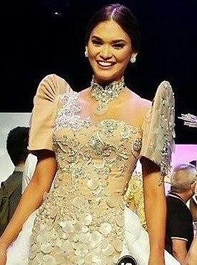 Pia Alonzo Wurtzbach in Philippine Terno 2