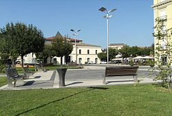 "The central ""Piazza Umberto I"""