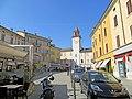 Piazza Giuseppe Garibaldi (Langhirano) - torre campanaria 2019-06-26.jpg