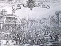 Piazza del Duomo Milano 1630 festeggiamenti nascita erede al trono spagnolo.jpg