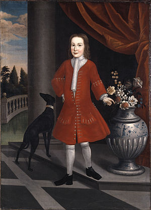 Pierre Van Cortlandt - Pierre Van Cortlandt, ca. 1731. Oil on linen. Brooklyn Museum