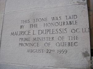 Maurice Duplessis - Queen Elizabeth Hospital, Montréal August 1959