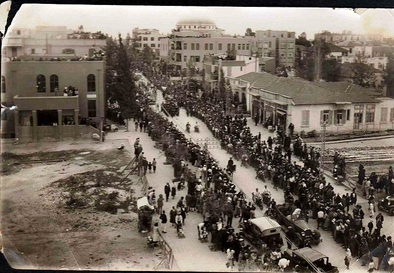רחוב אלנבי בשנות ה-20