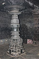 Pillar in mantapa (hall) in Mallikarjuna temple at Kuruvatti.JPG