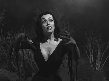 Maila Nurmi as Vampira in Plan 9 from Outer Space PlanNine 07.jpg
