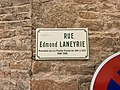 Plaque Rue Edmond Laneyrie - Solutré-Pouilly (FR71) - 2021-03-02 - 2.jpg