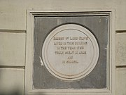 Plaque at Clive House