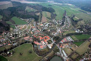 Plasy Town in Plzeň, Czech Republic