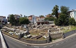 Roman Forum (Plovdiv) - Image: Plovdiv forum panorama